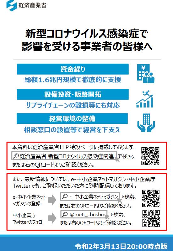 新型コロナウイルス(経済産業省)